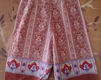 80s high waist ethnic paisley shorts