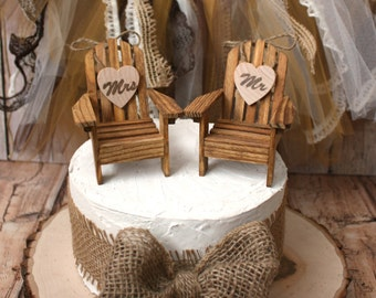 Adirondack beach wedding chairs-miniature Adirondack chairs-wedding cake topper-beach chairs-beach wedding-destination wedding-beach-custom