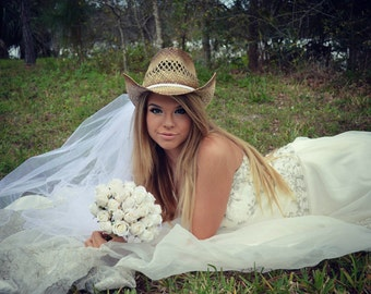 White-western wedding-Cowgirl bride-cowgirl hat-bridal cowgirl hat-formal cowgirl hat-bridal bachelorette hat-cowgirl hat-country bride