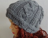 Hand knit cable  hat Knit women Girls hat  BOY Men hat Fall  Winter Accessories Autumn Fashion   ANY COLOR