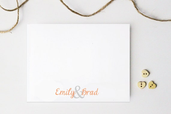 Couples Stationary Wedding Thank You Notes Personalized Stationery Couples Shower Gift Bridal Shower Engagement Gifts for Couples Note Cards