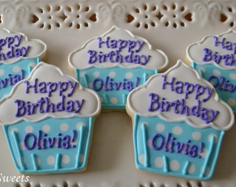 Personalized Cupcake Cookies
