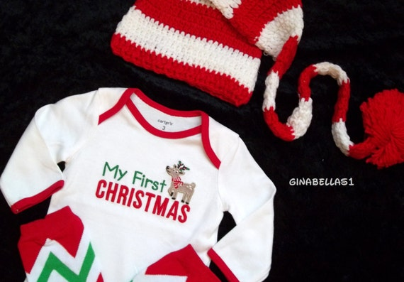 Like this item? - First Christmas Outfit Santa Baby Boy Girl Little Man Mister