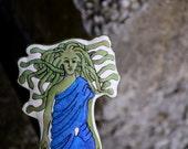 Medusa the Gorgon. Hand painted Greek Mythology art doll by alyparrott on Etsy.