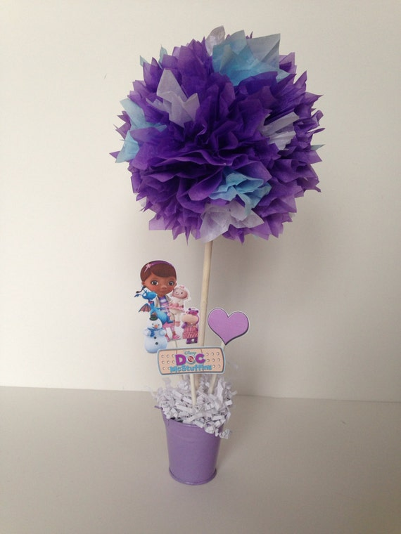 Doc Mcstuffins birthday party decoration, centerpiece, centerpieces