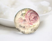 10mm 12mm 14mm 16mm 18mm 20mm 25mm 30mm Handmade Round Photo Glass Cabs Cover-Flower (P2103)
