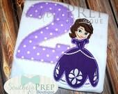 Sophia the first girls Birthday Shirt- Birthday Party Shirt - Girl's Disney Designs
