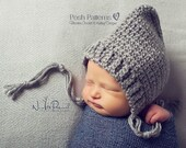 Crochet PATTERN - Crochet Hat Pattern - Crochet Pattern Baby - Pixie Hat Pattern - Bonnet Pattern - Baby, Kids, Adult Sizes - PDF 334