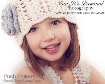 Crochet Pattern - Crochet Hat Pattern - Crochet Patterns - Crochet Patterns for Children - Baby, Toddler, Kids, Adult Sizes - PDF 102