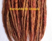 CUSTOM short crochet synthetic dreadlock extensions - natural look, double ended, short, 40 pieces.