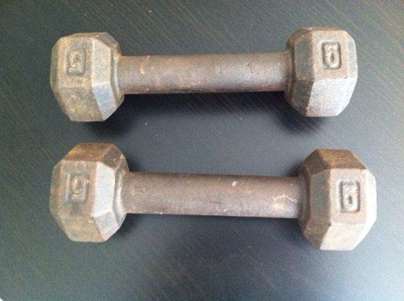 vintage barbells on etsy