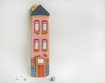 Happy Little House Miniature House Wall Decor Anniversary Gift Housewarming Gift Newlywed Gift Eco Friendly Art