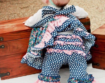 Baby Olivia's Ruffle Bottom Pants PDF Pattern Sizes Newborn to 18/24m