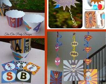 Super Hero birthday decoration, super hero, superman, spiderman, batman, birthday decoration, boy birthday decoration, super hero decoration