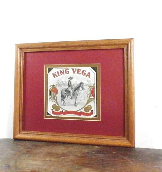 Vintage Cigar Box Label Wood Frame Vintage By