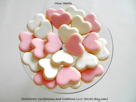 1.5 MIni Hearts Cookies Great for your Sweetheart or