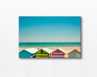 canvas wall hanging beach houses canvas wrap fine art photography ocean canvas large canvas beachscape canvas nautical decor canvas art