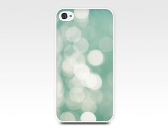 iphone 5 5s case abstract light bokeh photography nautical art iphone 6 case 4 4s case geometric circles mint iphone cover nautical green