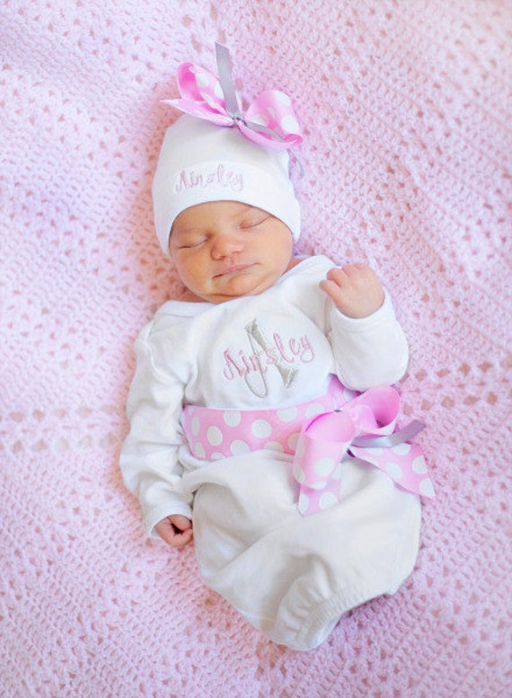 Personalized baby girl take home outfit coming home from like this item negle Gallery