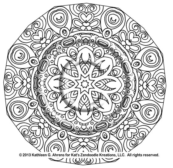 intricate coloring pages pdf - instant pdf download coloring page hand