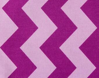 100% Cotton Chevron/Zigzag Print Fabric Lilac Purple