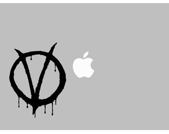 V for Vendetta Guy Fawkes decal: For Laptop, Car etc..