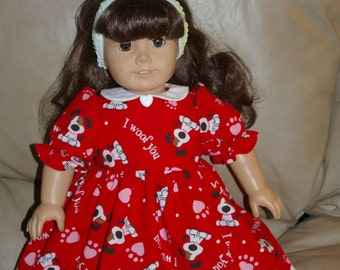 2 different Valentine dresses for your 18 inch doll/ON SALE