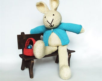 Ethan - Hand Knitted Bunny