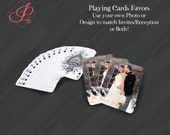 Personalized Playing Cards Gift or Favors for Your Special Event