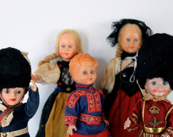 Vintage collection of creepy dolls