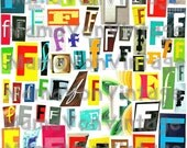 Magazine Letter Collage, Letter F, Printable, Digital Download