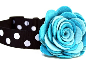 "Dog Collar Flower Add-on Felt Flower FOR 1.5"" MARTINGALE COLLAR"