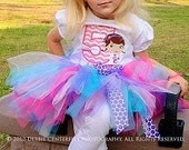 Doc McStuffins inspired tutu birthday outfit