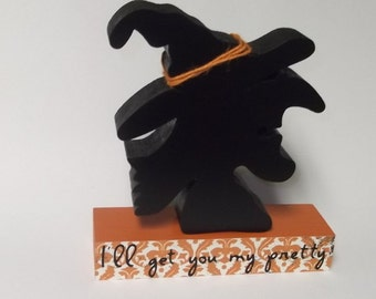 FREE SHIPPING! Witch Decor Halloween Decor Silhouette