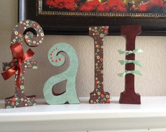 Fall Letters Wood Letters Fall Decor