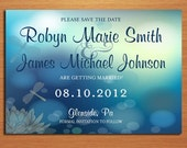 Dragonfly Wedding Save the Date PRINTABLE / DIY