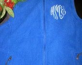 Ladies Warm Fleece Vest- Monogrammed FREE. . .get one in every color-- plus---great gift idea