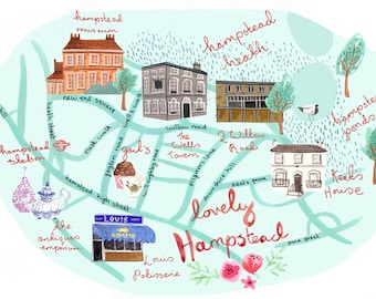 Lovely Hampstead A4 Art Print