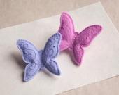 Butterfly  felt brooch, hand embroidered brooch