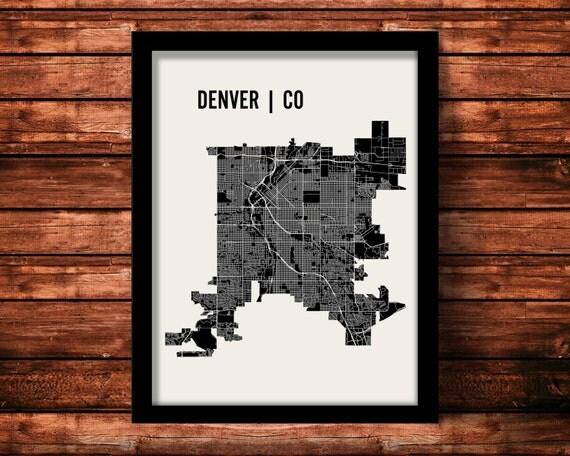 Denver Map Art Print | Denver Print | Denver Art Print | Denver Poster | Denver Gift | Wall Art