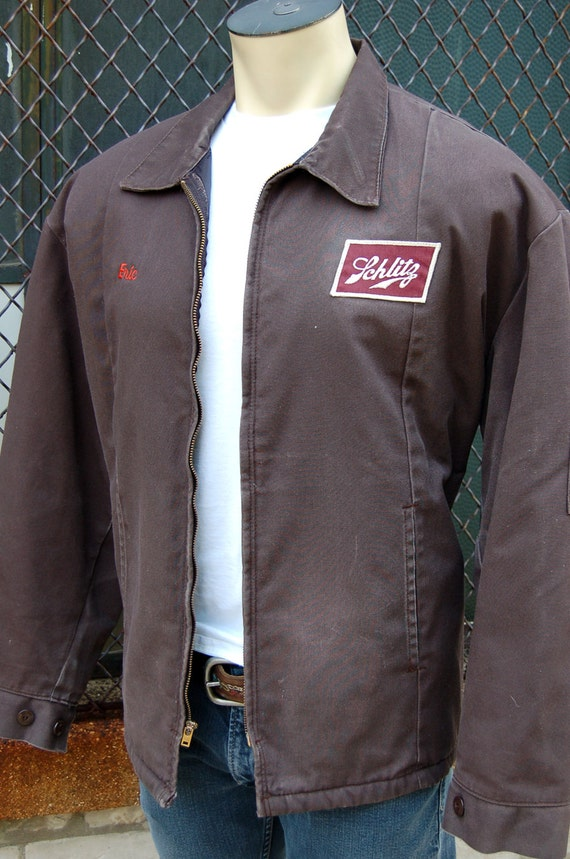 Xlarge Schlitz Beer Delivery Driver Jacket Uniform Vintage