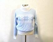 Retro 70s Sweater / Pullover Turtleneck Ski Sweater / Chunky Ski Bunny Sweater / Turtleneck Sweater / Hipster Sweaters