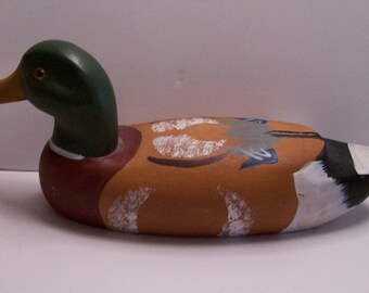 Wood Mallard Duck Decoy