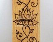 Henna Art, Lotus Flower Plaque, Lotus Flower Painting 1