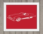Ferrari Art Print - Vintage Artwork - Wall Art - Modern Art Print - Car, Men Gifts - 82