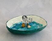 Ring dish / Trinket tray / Paper bowl / Key dish / Eco Chic storage / Cat decor / Hostess gift / Spring / storage