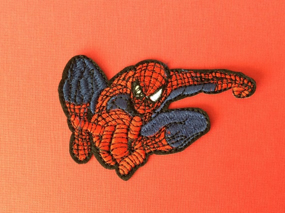 spider man iron on heat transfer patch decorate by fashionstation. Black Bedroom Furniture Sets. Home Design Ideas