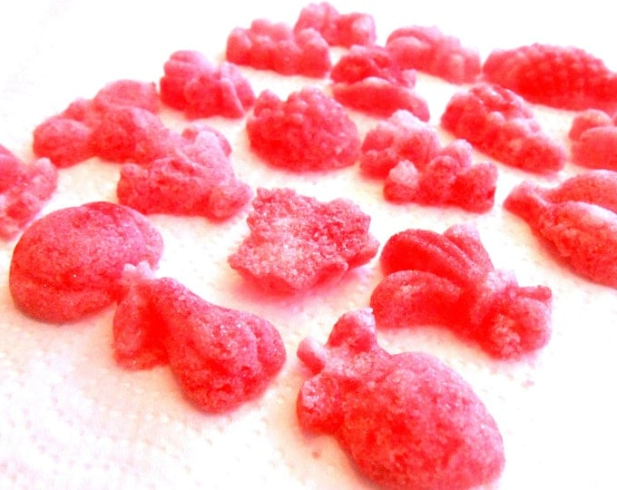 Flavored Sugar Cube Flowers- Sugar Fruits and Roses for Champagne Toasts, Tea Parties, Favors, Tea, Coffee, Lemonade, Cider 6 Oz Bag