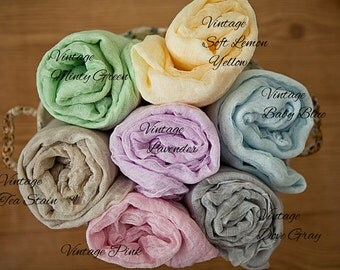 "5'x30"" 30 colors Cotton Gauze Swaddle Wrap Newborn Baby Photo Prop Cheesecloth Wraps/Photo Prop/Newborn Photography Wrap/Beatiful Texture"