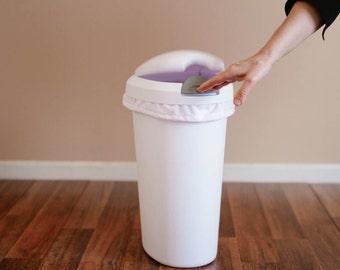 Diaper Pail Liner - White Reusable Garbage Pail Liner - Laundry Bag -  Cloth Diaper Pail